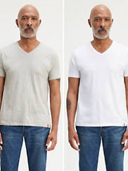 2-Pack Levis Slim Fit V-Neck Tee Shirt
