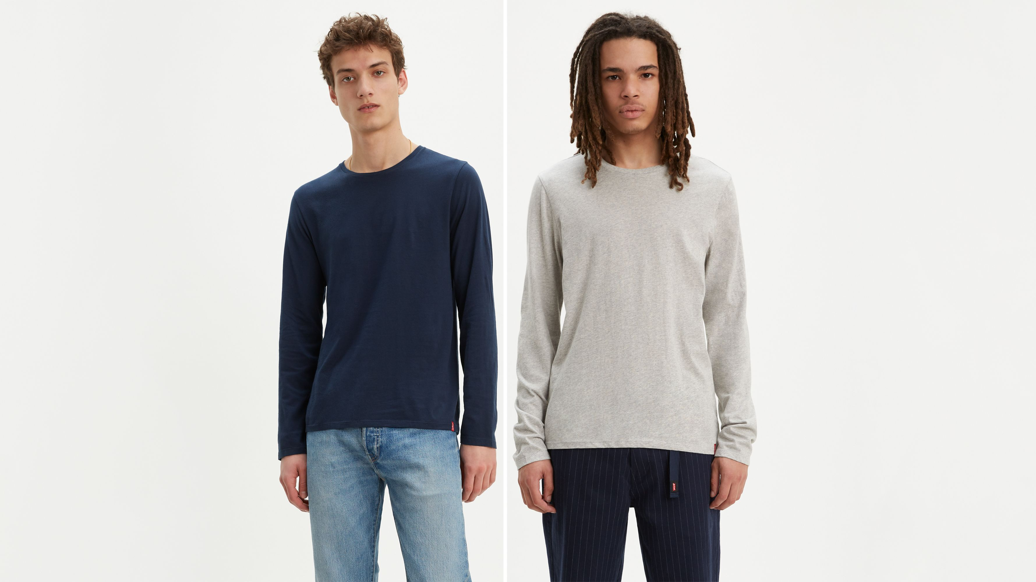 Longsleeve Slim Fit Crewneck Tee Shirt (2-Pack)
