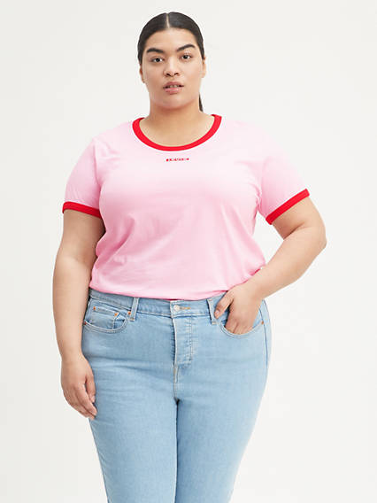 Graphic Ringer Tee (Plus Size)