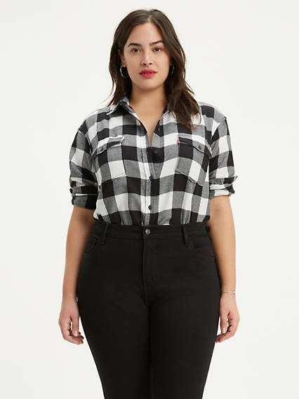 Autumn Boyfriend Shirt (Plus Size)