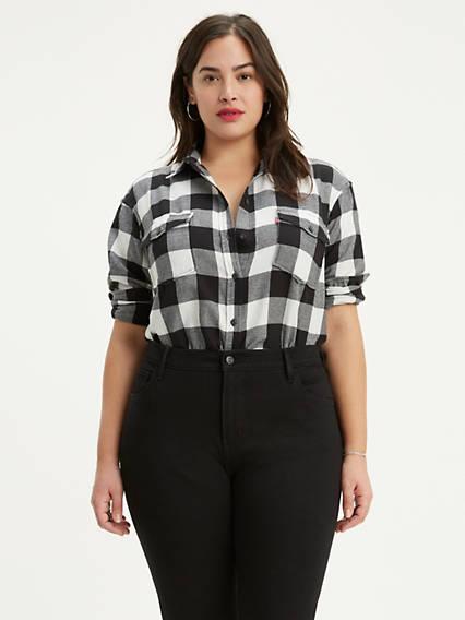 Autumn Boyfriend Shirt (Plus Size)