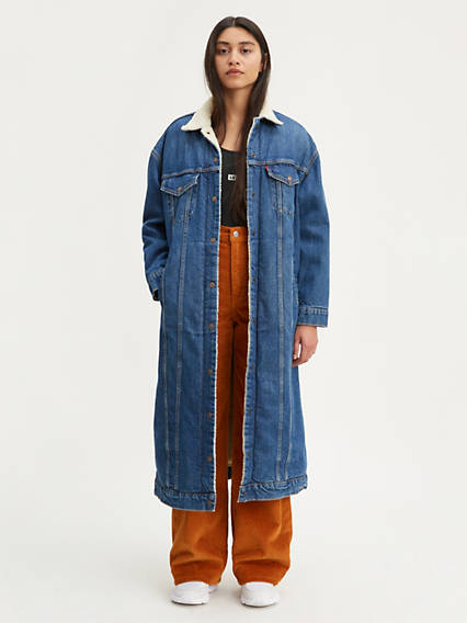 Extra Long Sherpa Trucker Jacket