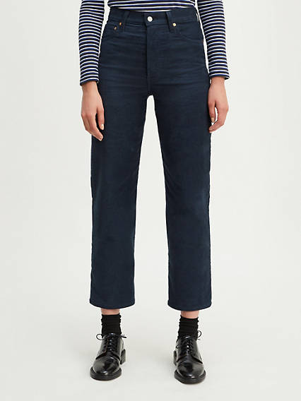 Ribcage Straight Ankle Corduroy Pants