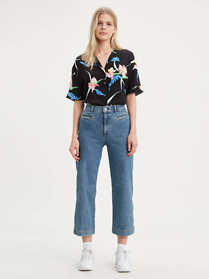 Ribcage Wide Leg Cropped Women's Jeans