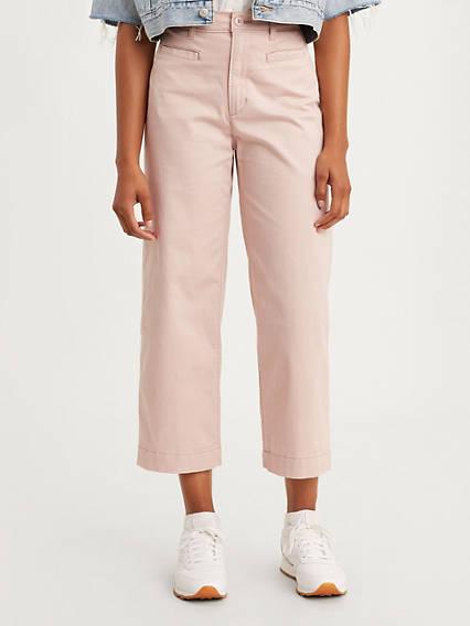 Ribcage Wide Leg Cropped Women's Pants