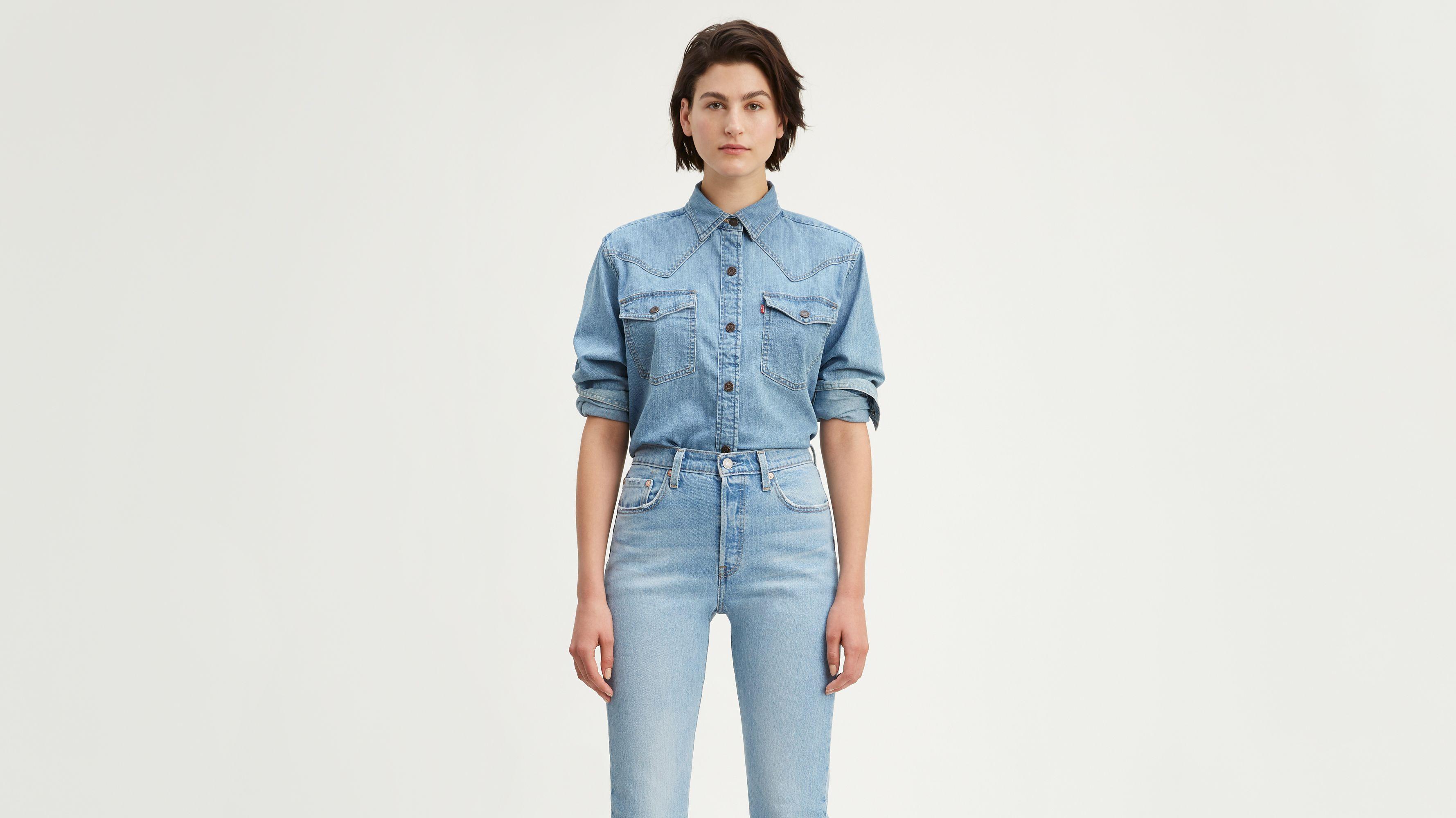 Mirella Raw Edge Western Shirt