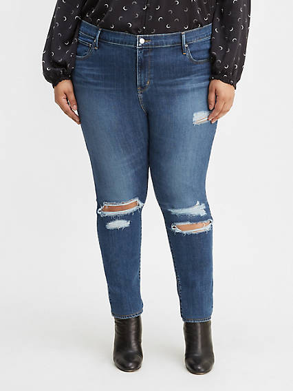 721 High Rise Skinny Ripped Women's Jeans (Plus Size)