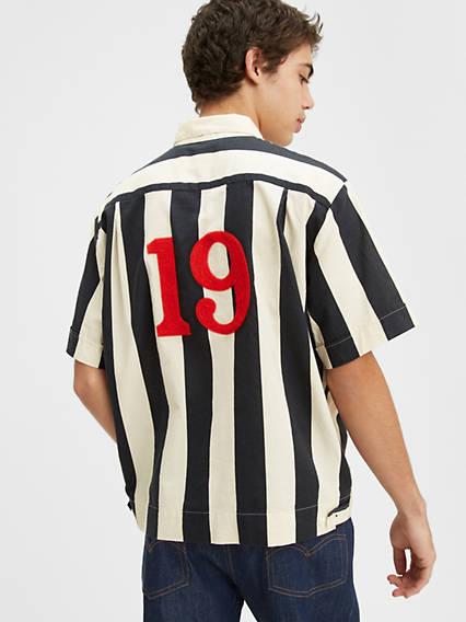 Mens Vintage Shirts – Retro Shirts Levis Flag Shirt - Mens XL $190.98 AT vintagedancer.com