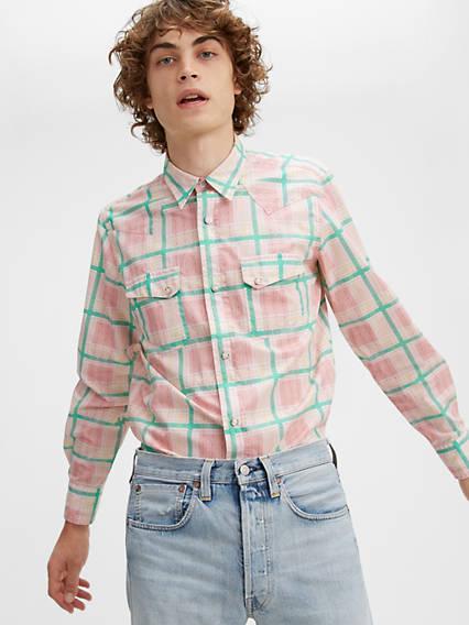 Mens Vintage Shirts – Retro Shirts Levis Shorthorn Shirt - Mens S $164.98 AT vintagedancer.com