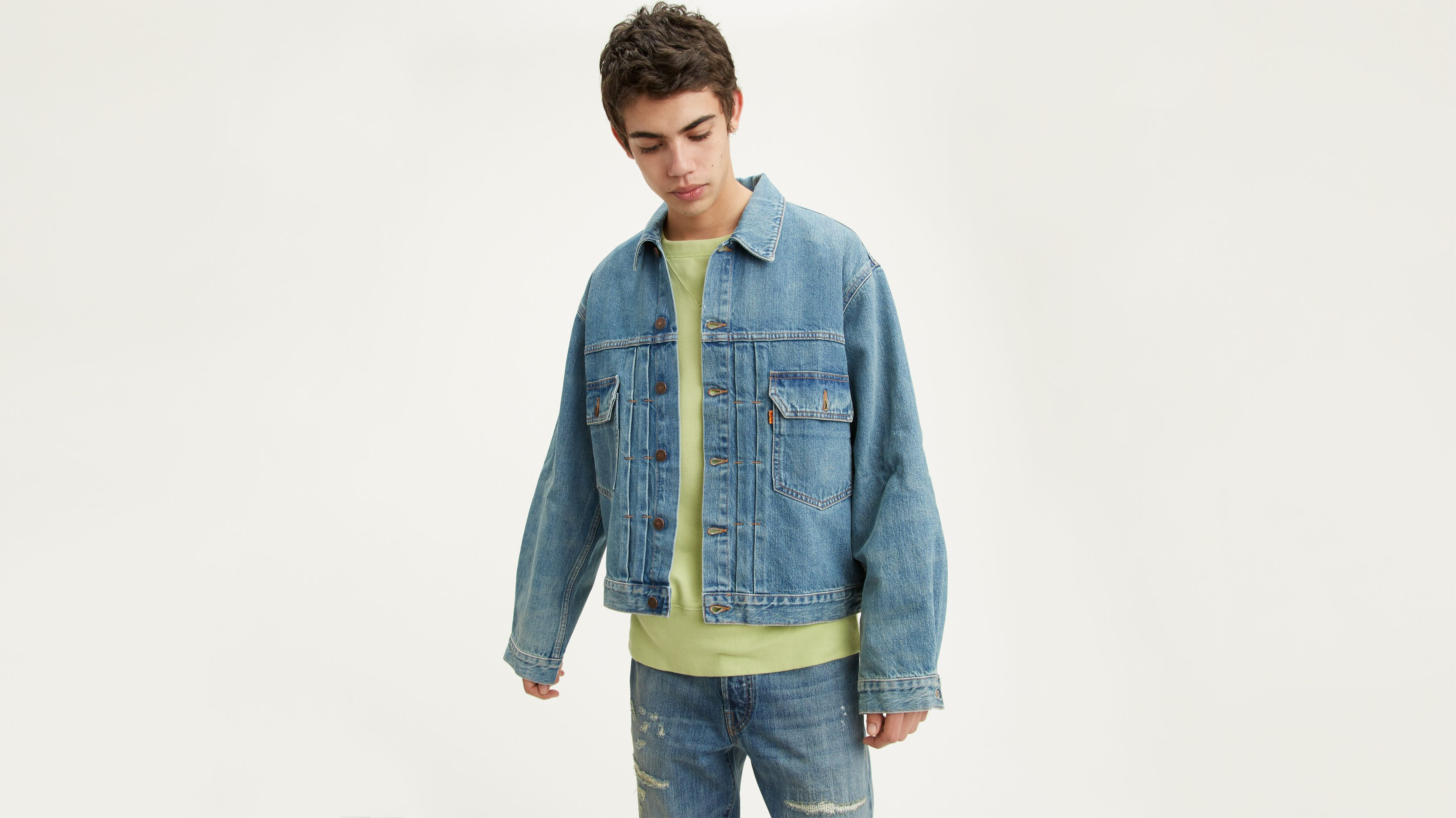 veste jean levis homme xxl,levi's vintage jean jackets