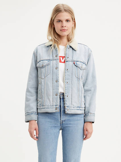 Levi's® Ex-Boyfriend Sherpa Trucker with Jacquard™ by Google