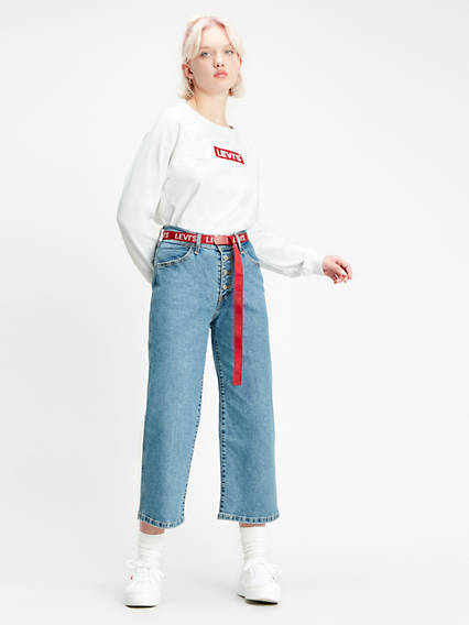 Mile High Wide Leg Crop