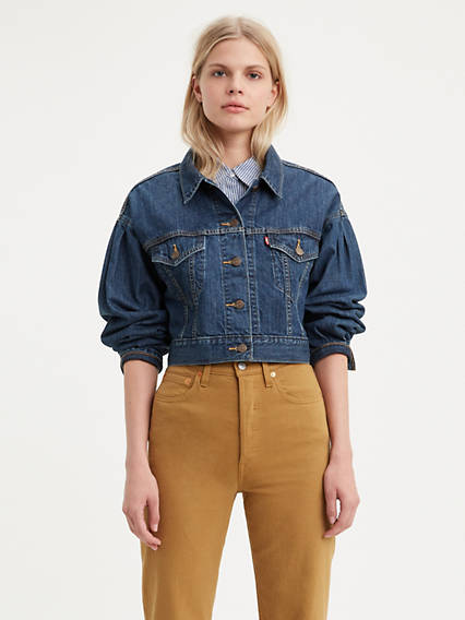 Pleated Trucker Jacket
