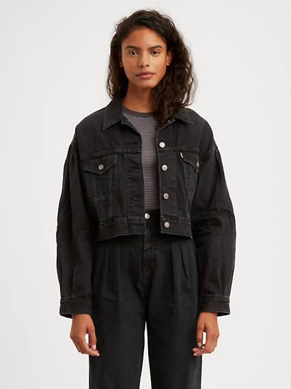 Pleated Trucker Jacket