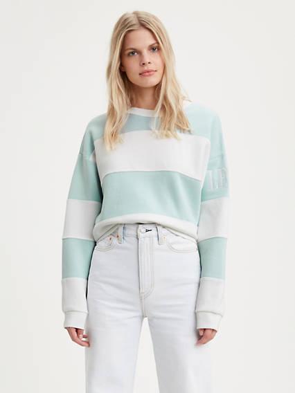 Colorblock Graphic Crewneck Sweatshirt