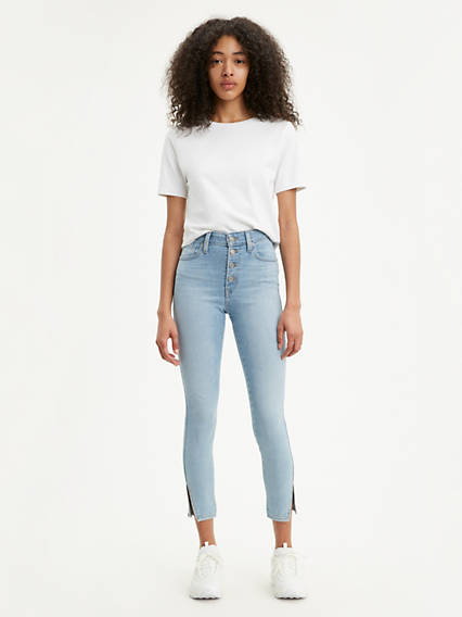Button Front 721 High Rise Ankle Skinny Women's Jeans