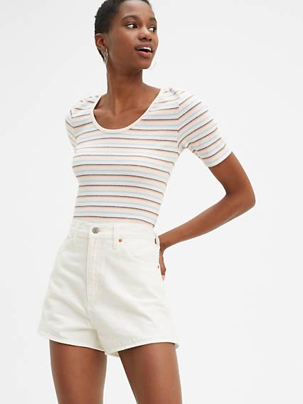 Wide Leg Mid Length Shorts