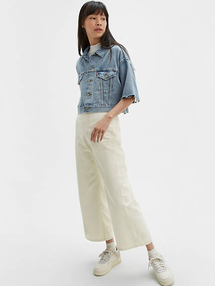 Levi's® WellThread™ Ribcage Wide Leg Cropped Jeans
