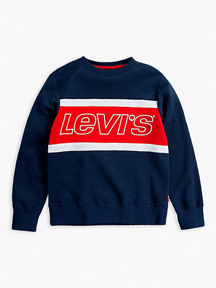 Colour Blocked Crewneck Kids