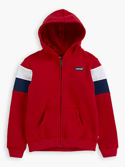 Double Striped Zip-Up Kids