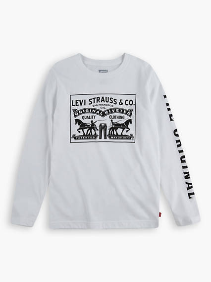 L/S Boxed Two-Horse Tee Teenager