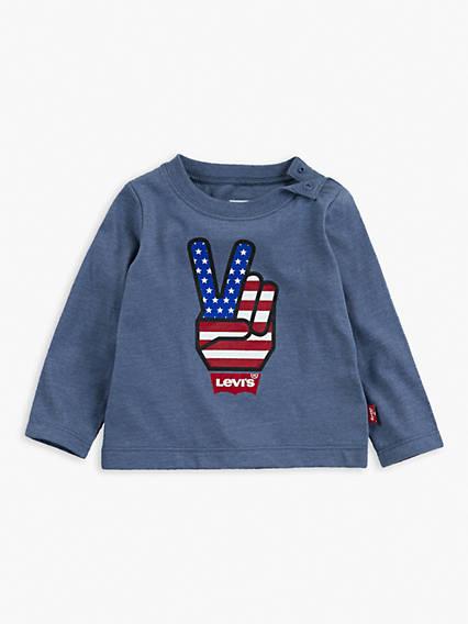 L/S Peace Symbol Tee Baby