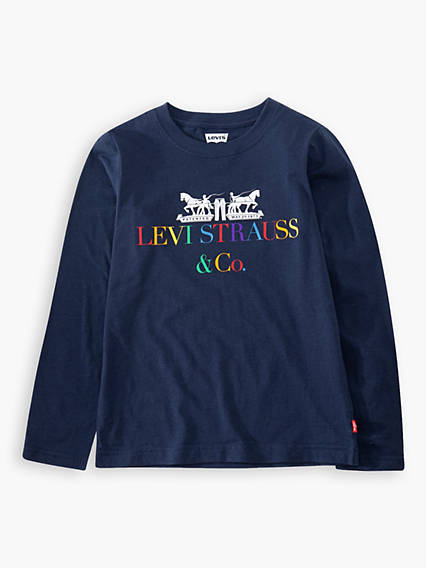 L/S Multi Corporate Logo Tee Kids