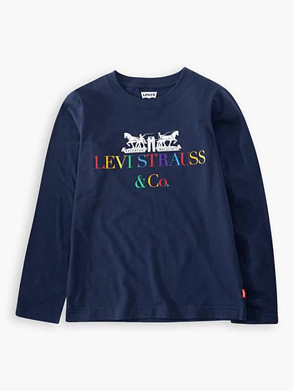 L/S Multi Corporate Logo Tee Teenager