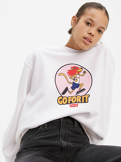 Oversized Crew Sweatshirt